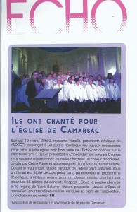 Article echo des colline avril 2016 Le Choeur de l-Isle 001-1